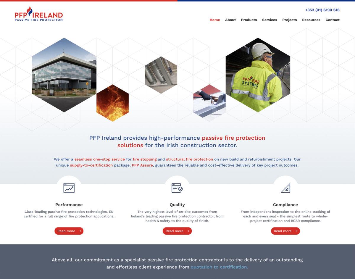 PFP Ireland Website Screenshot